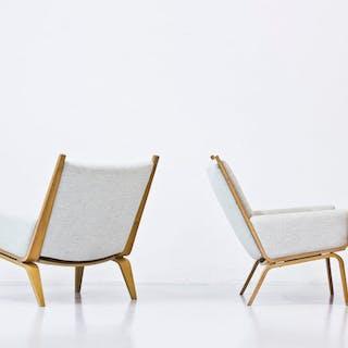 """GE-501"" easy chairs by Hans J. Wegner"
