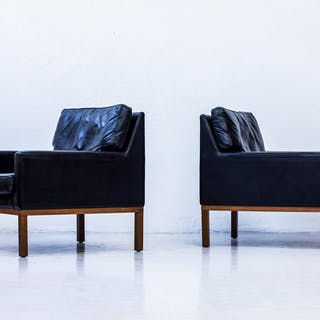 Danish 1960s leather easy chairs