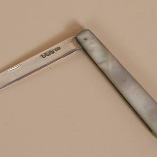 The Headhunter Martin - Antique Silver and MOP Fruit Knife