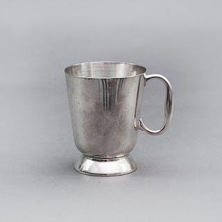 Master Steve - Half Pint Silver Plate Tankard