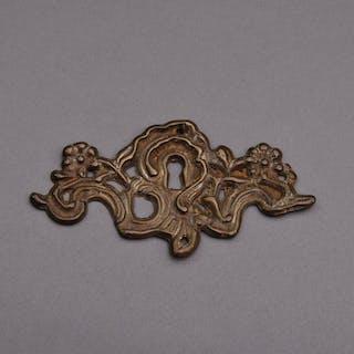 The Pimp Scott - Swirl Brass Escutcheon Plate / Keyhole Cover