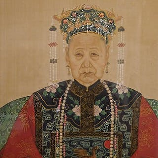 Chinese Ancestor Painting, Late Qing Dynasty