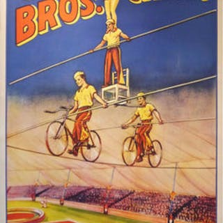 Original Cole Bros Circus Poster, 1930s/40s