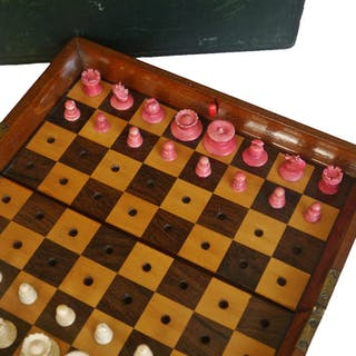 """Jaques """"In Statu Quo"""" Travelling Chess Set"""