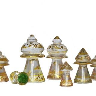 Islamic Rock Crystal Chess Set, circa 1920