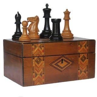 Jaques Staunton Boxwood Chess Set, 1938-40