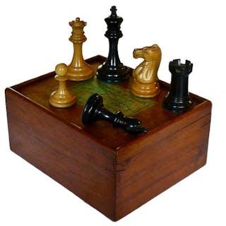 Jaques Staunton Boxwood Chess Set, circa 1885