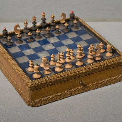 An Antique Nuremberg 'Toy' Chess Set