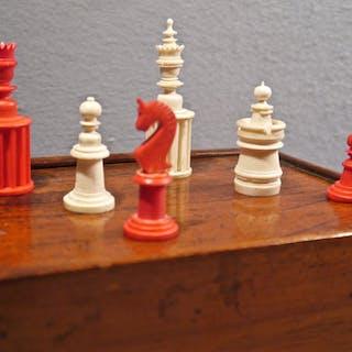 Unusual Nuremberg Chess Set, 19th century