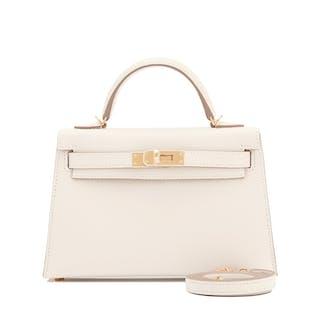 9d31c0af5a9f Hermes Craie Kelly 20cm Mini Off White Shoulder Bag