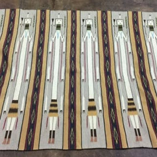 Navajo, Very Fine Yei Weaving with First Prize Ribbon by Mary Johnson, #1038
