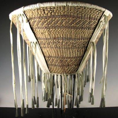 Native American, Apache Burden Basket, Ca 1970's,#779