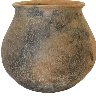 Casas Grandes Plain and Textured Ware Jar, (Utility Ware) Ca 700 AD
