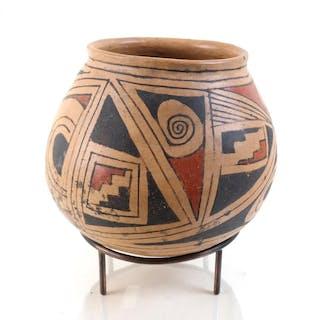 Pre Columbian Casas Grandes Poly Chrome Olla, #1117