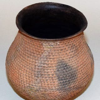 Native American, Anasazi Corrugated Pottery Cooking Pot, , CA 1000-1600