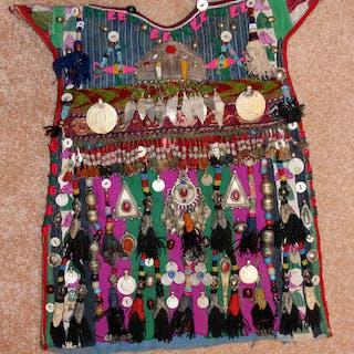 Historic Nomad Turkmen Cherjew Village Children's Ceremonial Garment