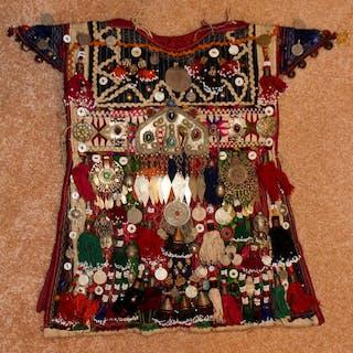 Historical Nomad Turkmen Cherjew Village Children's Ceremonial Garment