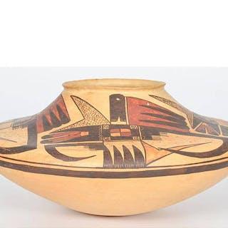 Michael Hawley Poly chrome Pottery Jar #1122