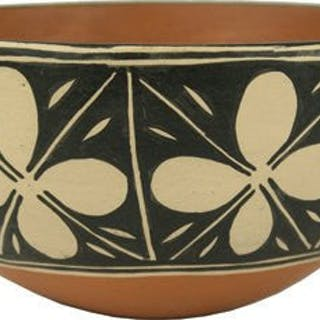 Vintage Santo Domingo Pottery Bowl by Franklin Tenorio #303