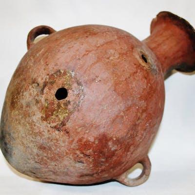 Pre-Columbian Mapuche Pottery Earthen Ware Storage Vessel from Ecuador #400