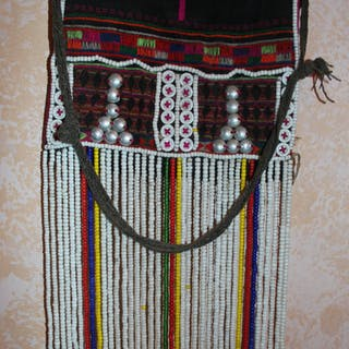 Vintage Purse : Small Vintage Akha Fancy Flap from Northern Thailand
