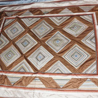 Thai Silk Bed Spread in Homong Pattern, From Chiang Mai, Thailand #471