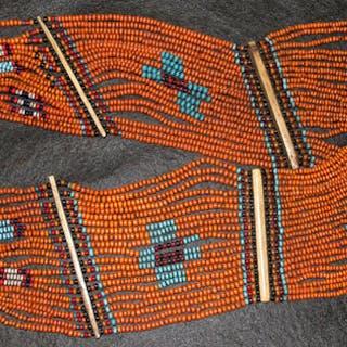 e211d41b6375a4 Vintage Konyak Naga Beaded Belt/Sash from North East India #540