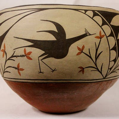 Zia : Magnificant Zia Pottery Pot, by Candelaria Gachupin #440