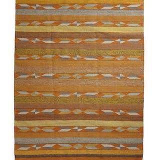 Native American, Large Navajo Crystal Rug/Weaving, by Mary Johnson, Ca 1970's