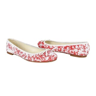 29a92e4187c5a Giuseppe Zanotti Shoe Ballet Flat White and Red Sequins 38.5 / 8.5