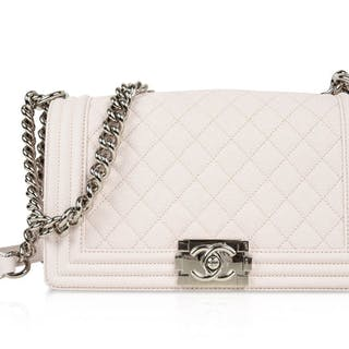 36d1b890fbb291 Chanel Bag Pale Pink / Nude Quilted Caviar Medium – Current sales –  Barnebys.com