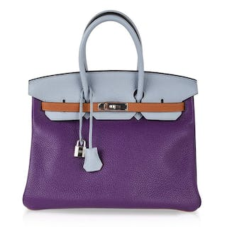 0311bbe1f09 Hermes Birkin 35 Bag Arlequin Limited Edition Clemence Palladium
