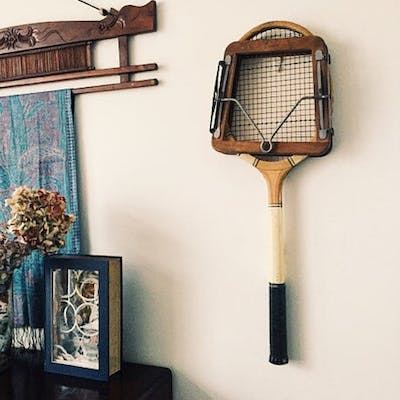 1920s Vintage Tennis Racket and Press