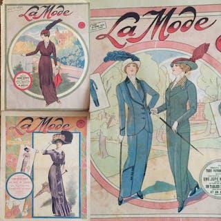 Vintage French Fashion Prints Trio