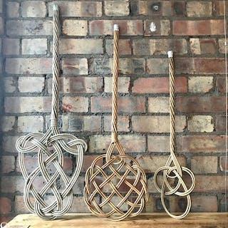 Trio of Vintage Rug Beaters