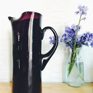1950s Amethyst-Coloured Glass Jug