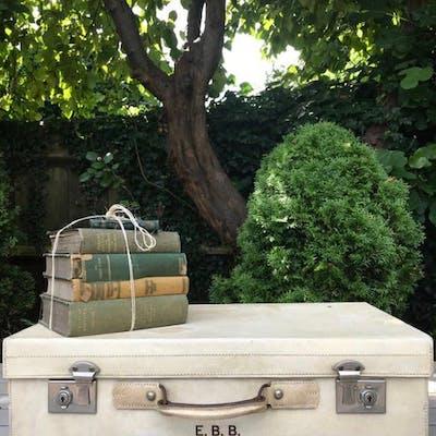 Vintage Cream Suitcase