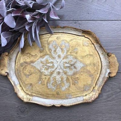 Cream Florentine Gilt Tray