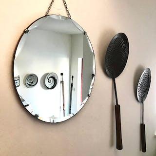 Beautiful Art Deco Frameless Mirror