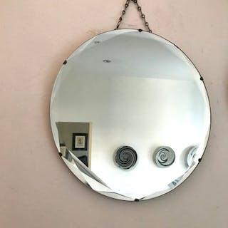 Round Art Deco Decorative Mirror