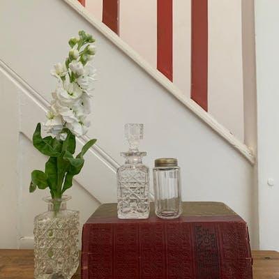 Small Victorian Cut-Glass Perfume Bottle
