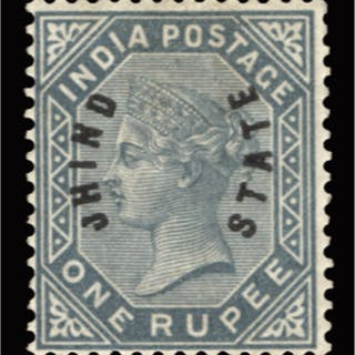 Indian Convention State Jind 1885 1r slate, SG6
