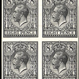 Great Britain 1912 King George V Essay 8d Trials of Eve's Pillar Design