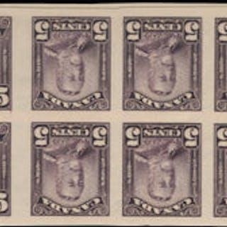 Canada 1928-29 1c orange, 2c green, 5c violet, SG275/9var