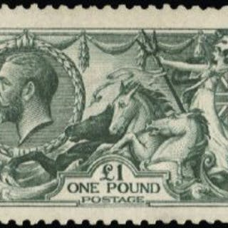 Great Britain 1913 King George V £1 green, SG403