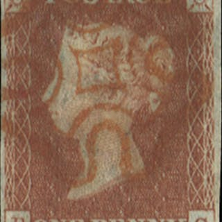 Great Britain 1841 1d Red brown Plate 21, SG8