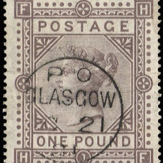 Great Britain 1878 £1 Brown lilac Plate 1, SG129