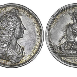 Great Britain 1714 Coronation of George Silver Medal