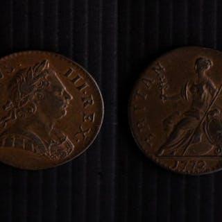 George III (1760-1820) Halfpenny 1772