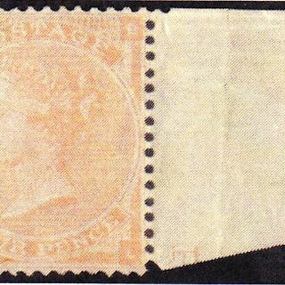Great Britain 1863 Queen Victoria Surface Printed 4d pale red, plate 4. SG82